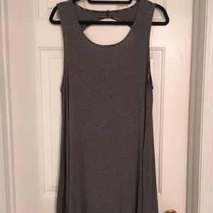 American Eagle Outfitters Dresses - Striped cotton lycra swing dress